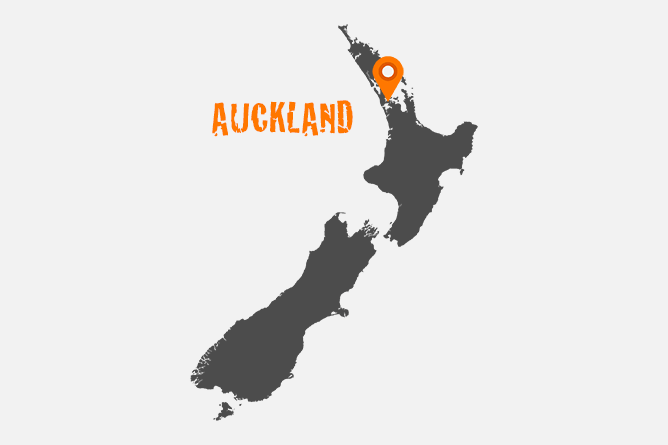 Map Of Auckland, North Island New Zealand