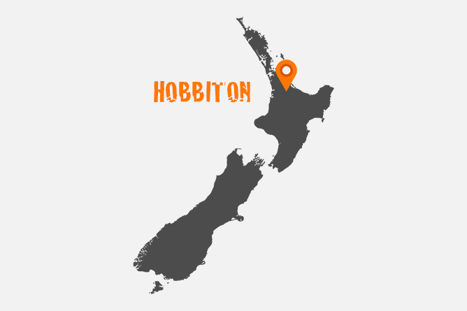Map Of Hobbiton Movie Set Location, New Zealand