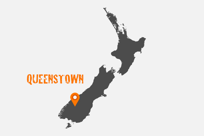 Map Of Queenstown, New Zealand