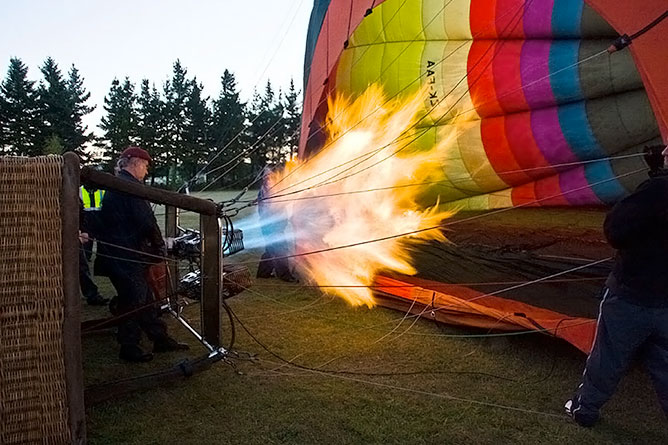Hot Air Inflates The Nylon Fabric Of The Balloon