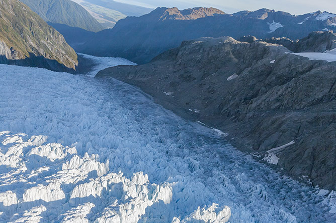 Flying Over Fox Glacier