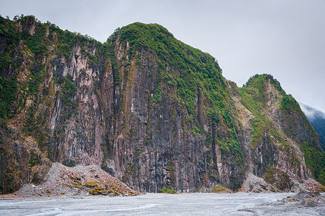 Cliff Face, Fox Glacier Valley