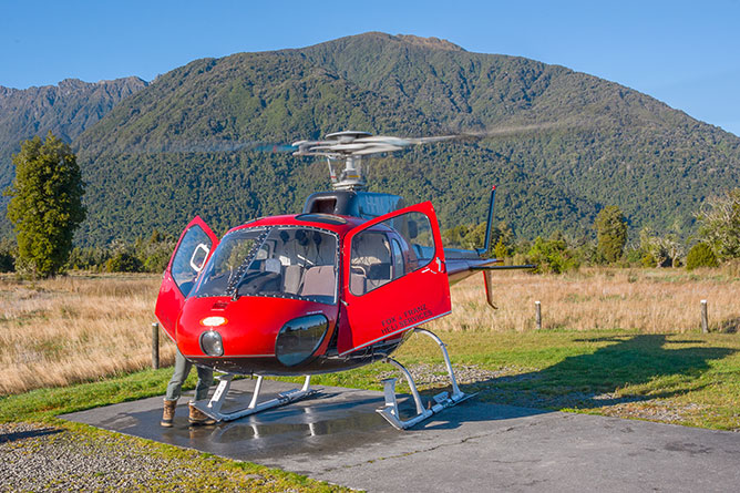 Helicopter Landing Pad, Fox Glacier