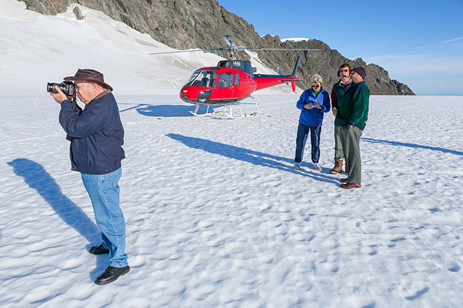 Landing On Top Of Fox Glacier